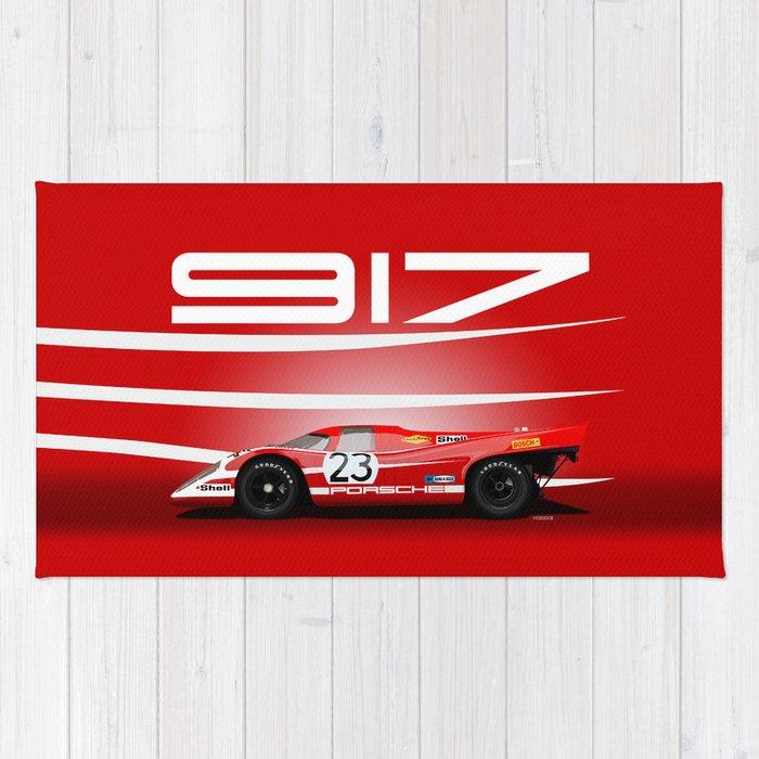 Porsche 917-023 1970 Le Mans Winner Rug