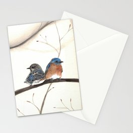 Bluebird Pair Watercolor Stationery Cards