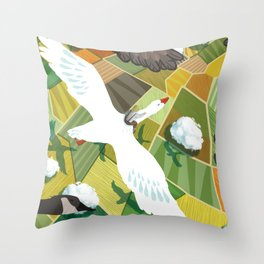 Nils With Wild Geese Throw Pillow