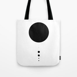 The Solar System (white) Tote Bag