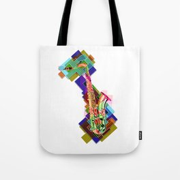 Sounds of music. Saxophone. Tote Bag