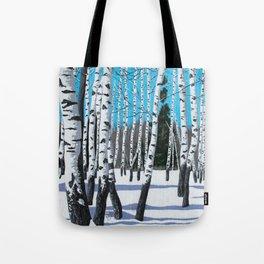Winter Birches Tote Bag