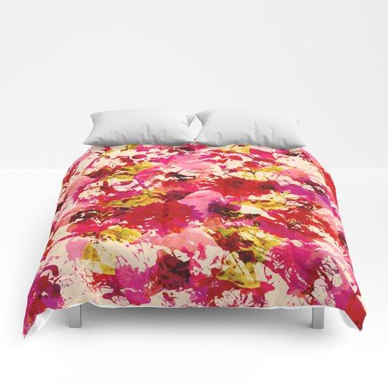 abstract summery garden Comforters