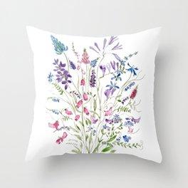 vintage wildflowers arrangement 2020 Throw Pillow