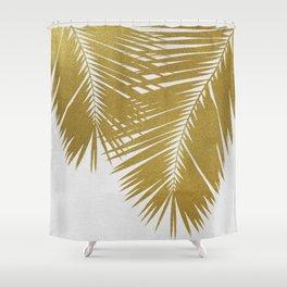 Palm Leaf Gold II Shower Curtain