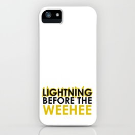 Lightning Before the Weehee iPhone Case