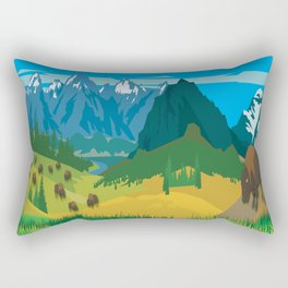 Land Of The American Natives No. 2 Rectangular Pillow