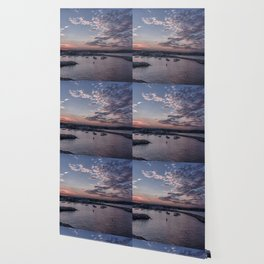 Sunset over Rockport Harbor Wallpaper
