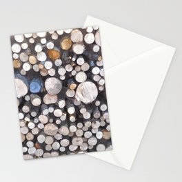 Kindling wood logs pile Stationery Cards