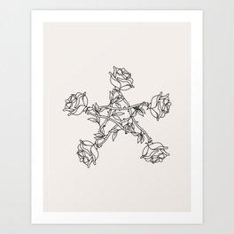 Rose Pentacle Art Print