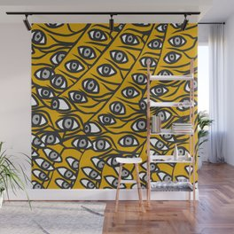 Freddie Eyeballs Golden Yellow Wall Mural