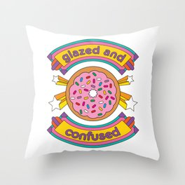 Glazed And Confused Donut Throw Pillow