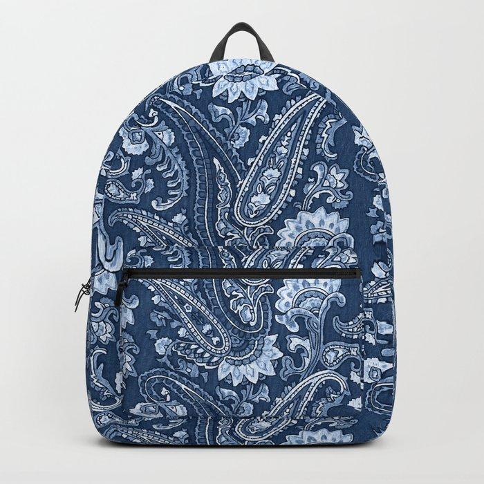 Blue indigo paisley Backpack