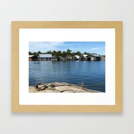Boathouses Framed Art Print