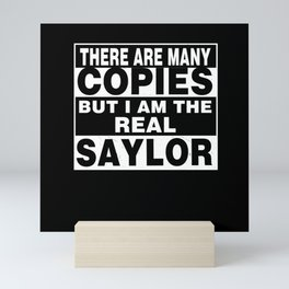 I Am Saylor Funny Personal Personalized Gift Mini Art Print
