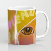 best friend Mugs featuring Best Friend by Roger Wedegis