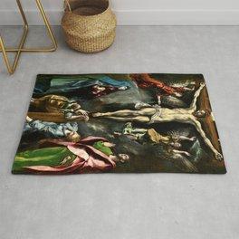 """El Greco (Domenikos Theotokopoulos) """"The Crucifixion"""" Rug"""