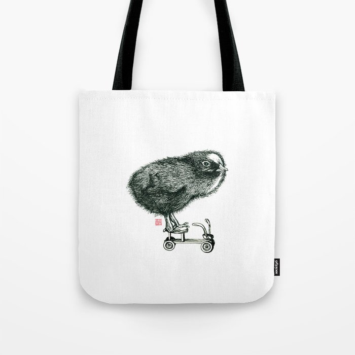 Chick on speed Tote Bag