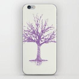Purple Tree Cream Background iPhone Skin