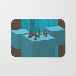 3D Chess Pieces Didital Art Bath Mat
