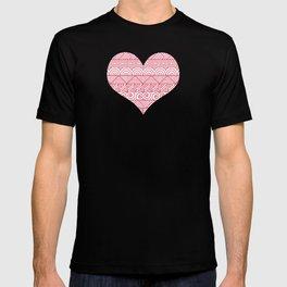 Patterned Hearts Pattern T-shirt