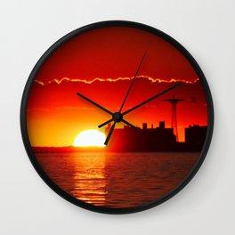 Coney Island Sunset Wall Clock