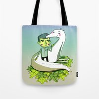 friendship Tote Bags featuring Friendship by Emily Joan Campbell