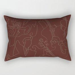 Jazz Musicians (Maroon) Rectangular Pillow