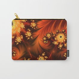 Glowing Fractal, Abstract Art With Warmth Carry-All Pouch