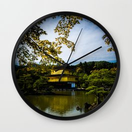 The Golden Pavilion Wall Clock