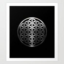 Flower Of Life (Silver Gleams) Art Print