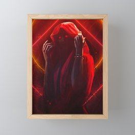 Red Witch Framed Mini Art Print