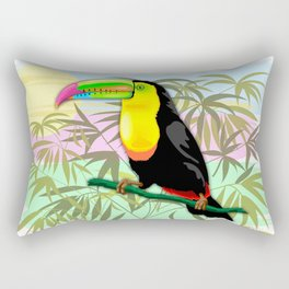 Toucan Wild Bird from Amazon Rainforest Rectangular Pillow