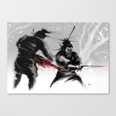 Samurai fight Canvas Print