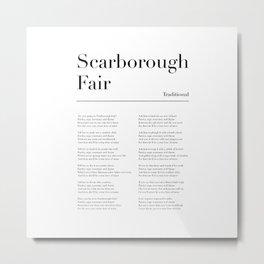 Scarborough Fair Lyrics Metal Print