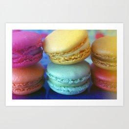Macaron Rainbow 2 Art Print