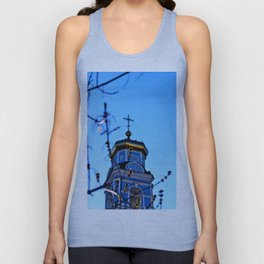 Cupolas, Church of the Ascension, Russia Unisex Tank Top