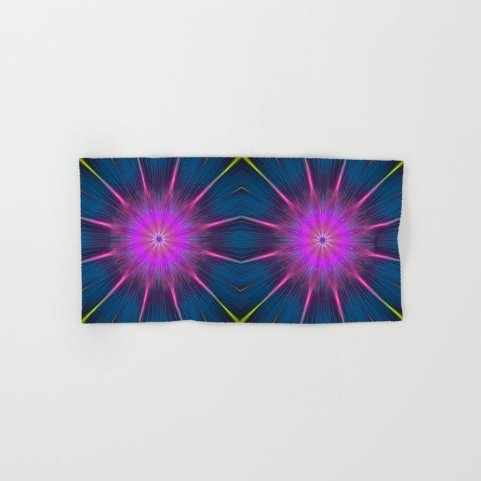 Artistic bright shining abstract star Hand & Bath Towel