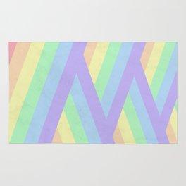 """Rainbow shine"" geometrical minimal art Rug"