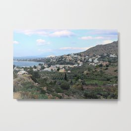 City in the Hills Metal Print