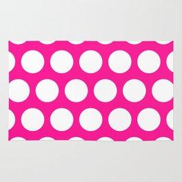 Big polka dots on deep pink Rug