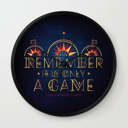 Only A Game Wall Clock