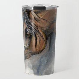 Arabian horse portrait Travel Mug