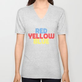 Red Yellow Blue Unisex V-Neck