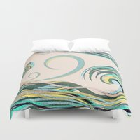 drink Duvet Covers featuring In the Drink by DebS Digs Photo Art