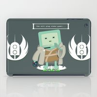 video games iPad Cases featuring Jedi Mo: You will play video games... by FuManChou