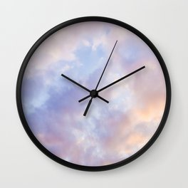 Pink sky / Photo of heavenly sky Wall Clock