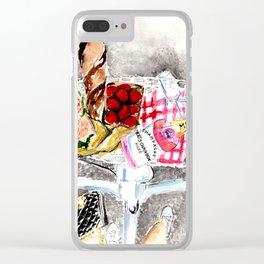 Picnic in Paris Clear iPhone Case