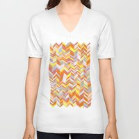 blanket V-neck T-shirts featuring Blanket by Tonya Doughty