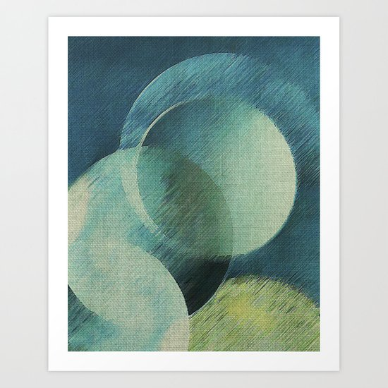 The Phases of the Blue Moons Art Print